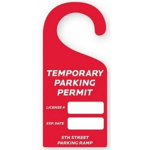 "Permit | Hanger - Rectangle (4x9"") Rounded Corners"