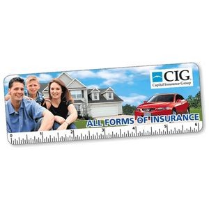 "6"" Custom Lenticular Animated FLIPIMAGE Bookmark/Ruler"