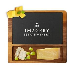 Acacia Wood & Slate Square Cheese Board