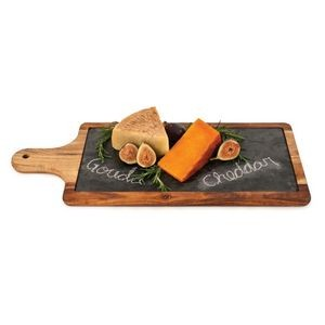 Rustic Farmhouse Slate and Wood Paddle